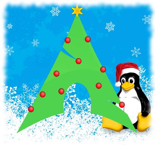 Новогодний Arch Linux