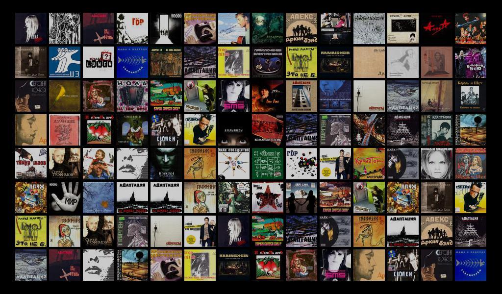 замощенное изображение из альбомов на lastfm