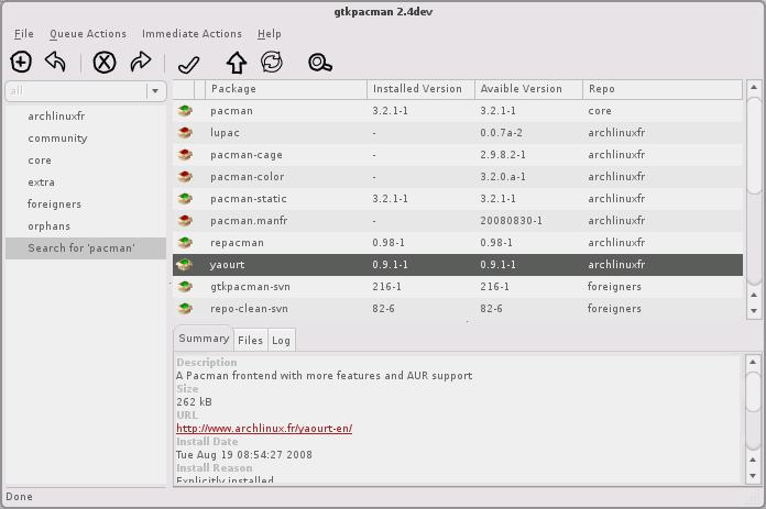 gtkpacman screenshot